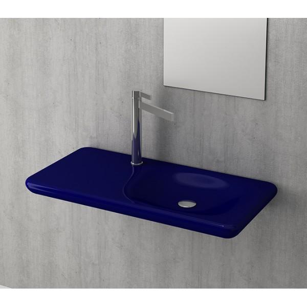 Bocchi Fenice 900мм син сапфир гланц мивка с плот без пробит отвор за смесител 1165 010 0125