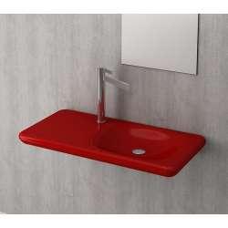 Bocchi Fenice 900мм червен гланц мивка с плот и отвор за смесител