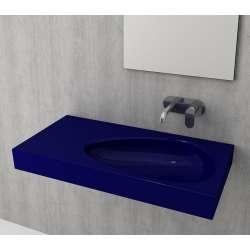 Bocchi Etna 90см умивалник с плот с отвор за смесител син сапфир гланц 1115 010 0126