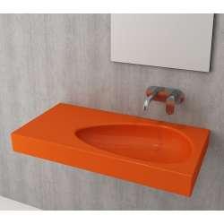 Bocchi Etna 90см умивалник с плот с отвор за смесител оранжев гланц 1115 012 0126