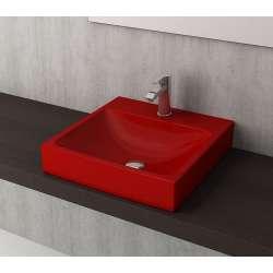 Bocchi Scala Arch 48см умивалник върху плот червен гланц 1076 019 0126