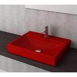 Bocchi Scala Arch 60см умивалник върху плот червен гланц 1077 019 0126