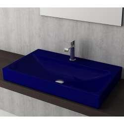Bocchi Scala Arch 80см умивалник върху плот син сапфир гланц 1078 010 0126