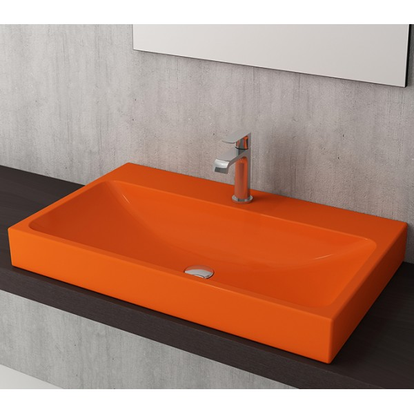 Bocchi Scala Arch 80см умивалник върху плот оранжев гланц 1078 012 0126