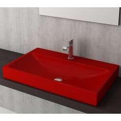 Bocchi Scala Arch 80см умивалник върху плот червен гланц 1078 019 0126