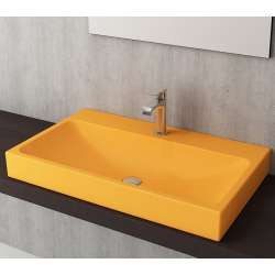Bocchi Scala Arch 80см умивалник върху плот мандарина гланц 1078 021 0126