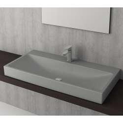 Bocchi Scala Arch 100см умивалник върху плот сив мат с пробит отвор за смесител