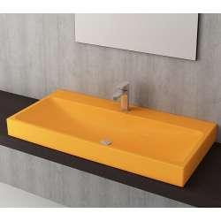 Bocchi Scala Arch 100см умивалник върху плот мандарина с пробит отвор за смесител гланц
