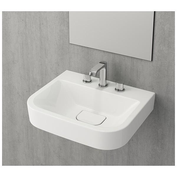 Bocchi Scala Tech умивалник 55см за стена или плот бял гланц 1175 001 0126