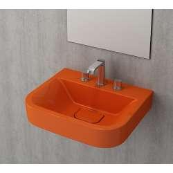 Bocchi Scala Tech умивалник 55см за стена или плот оранжев гланц 1175 012 0126