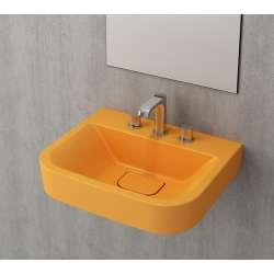 Bocchi Scala Tech умивалник 55см за стена или плот с 3 отвора за смесител мандарина гланц 1175 021 0127