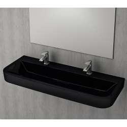 Bocchi Scala Tech умивалник 120см за стена или плот с 2 отвора за смесител черен гланц 1232 005 0126Ç