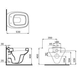 Bocchi Fenice конзолнa WC черен мат 2
