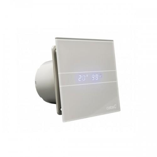 CATA E 100 GSTH сив вентилатор за баня с датчик влага и таймер