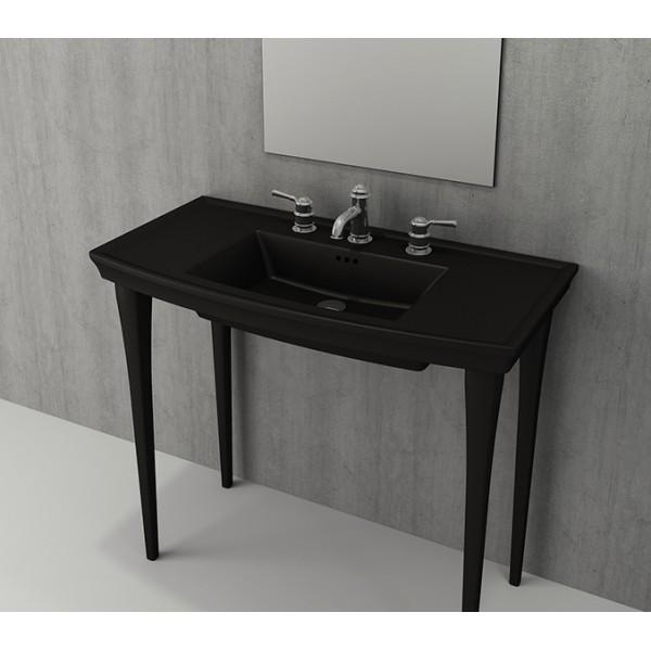 Bocchi Lavita 100см черен мат мивка с плот с 1 пробит отвор за смесител 1168 004 0126