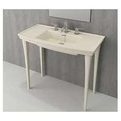 Bocchi Lavita 100см ванилия мат мивка с плот с 1 пробит отвор за смесител 1168 008 0126