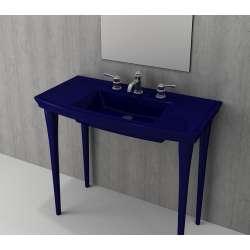 Bocchi Lavita 100см син сапфир гланц мивка с плот с 1 пробит отвор за смесител