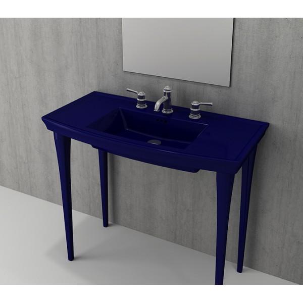 Bocchi Lavita 100см син сапфир гланц мивка с плот с 1 пробит отвор за смесител 1168 010 0126
