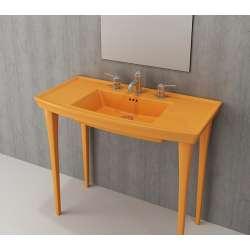 Bocchi Lavita 100см мандарина гланц мивка с плот с 1 пробит отвор за смесител 1168 021 0126