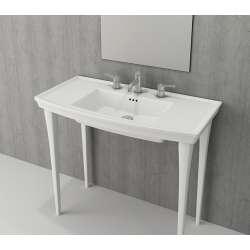 Bocchi Lavita 100см бял мат мивка с плот с 3 пробити отвора за смесител 1168 002 0127