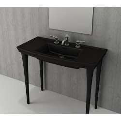 Bocchi Lavita 100см черен мат мивка с плот с 3 пробити отвора за смесител