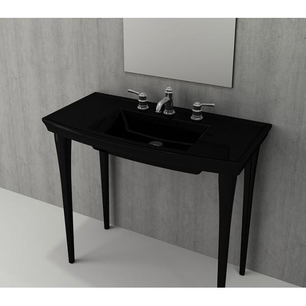 Bocchi Lavita 100см черен гланц мивка с плот с 3 пробити отвора за смесител 1168 005 0127