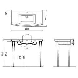 Bocchi Lavita 100см черен гланц мивка с плот с 3 пробити отвора за смесител 2
