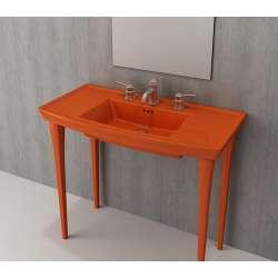 Bocchi Lavita 100см оранжев гланц мивка с плот с 3 пробити отвора за смесител