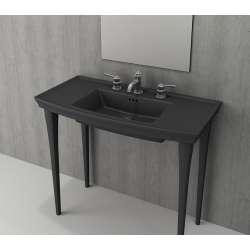 Bocchi Lavita 100см антрацит мат мивка с плот с 3 пробити отвора за смесител 1168 020 0127