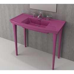 Bocchi Lavita 100см виолетов гланц мивка с плот с 3 пробити отвора за смесител 1168 023 0127