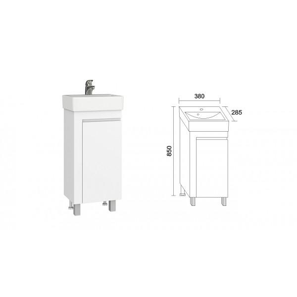Triano Vega долен шкаф с мивка 40см dolen_vega