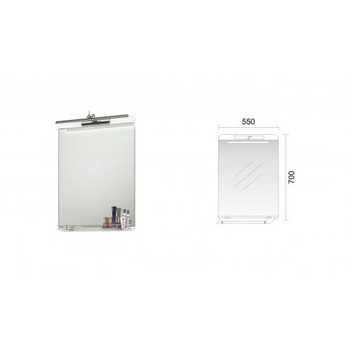 Triano Smile огледало с LED осветление и полица 55см