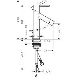 Смесител за мивка AXOR Starck Single lever basin mixer 100 with lever handle 2