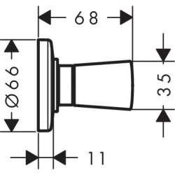 Hansgrohe Logis затварящ клапан за вградена инсталация 2