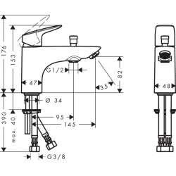 Hansgrohe Logis смесител за душ и вана едноръкохватков 2