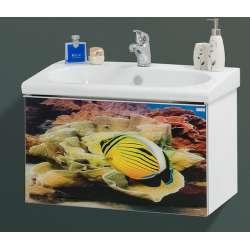 Visota Ana Print долен шкаф PVC с врата с плавно затваряне и принт стъкло 72см dolen_ana_print_pvc