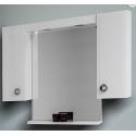 Visota Lati горен шкаф PVC с огледало и LED осветление 104см