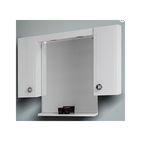 Visota Lati горен шкаф PVC с огледало и LED осветление 104см goren_lati_pvc
