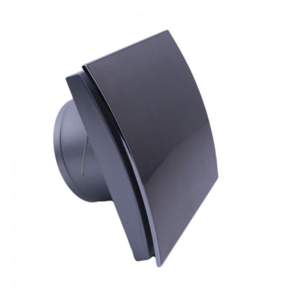MMotors MM-P/06 - вентилатор за баня, стъкло - черен - овал 4888