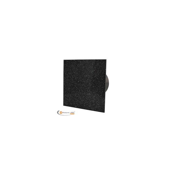 MMotors MM-P/06 - вентилатор за баня с намален шум, стъкло -черен/сребро 9258