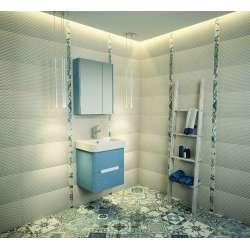 Arvipo Senso горен шкаф с огледални врати 55см цвят по RAL 2