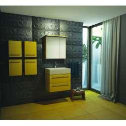 Arvipo Nice горен шкаф с огледални врати 70см бял лак/мат 2