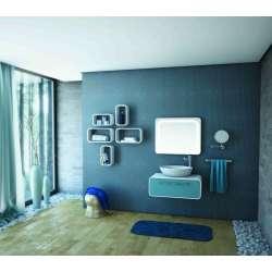 Arvipo Oval долен шкаф с чекмедже 80см дървесен декор 2