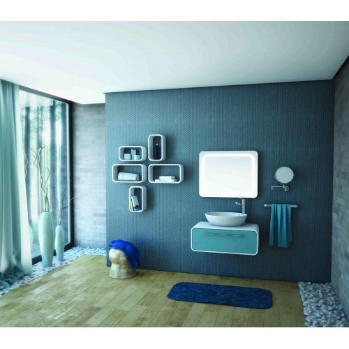 Arvipo Oval долен шкаф с чекмедже 60см дървесен декор 2