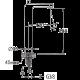 Bergsee Пикасо висок смесител за умивалник 2 BS 8227B-37