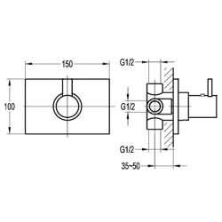 Bergsee Пикасо термостатен смесител за вграждане 2