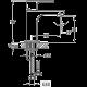 Bergsee Юлия смесител за мивка с изпразнител 2 BS 9829-63