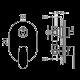 Bergsee Юлия смесител за вграждане 2 BS 9903-59