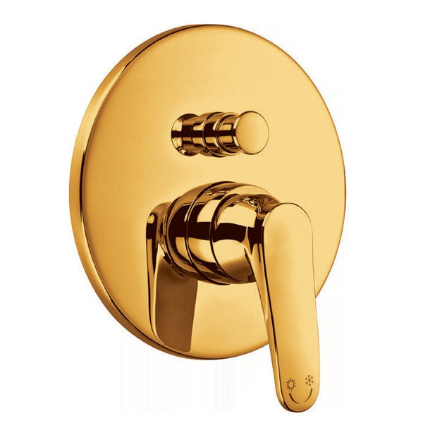 Bergsee Белла смесител за вграждане за вана/душ златен BS 2037-78G