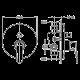 Bergsee Белла смесител за вграждане за вана/душ златен 2 BS 2037-78G